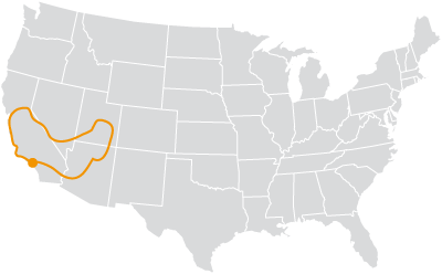southwest map